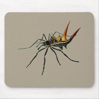 Una araña orbe-que teje spined tapete de ratón
