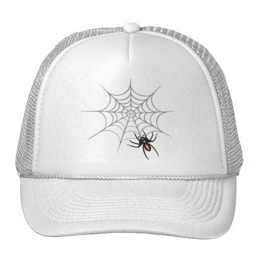 Una araña y su Web Gorro De Camionero