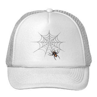 Una araña y su Web Gorros Bordados