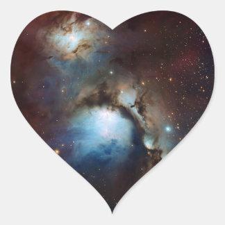 Una astronomía de espacio más sucia 78 de la nebul pegatina de corazon