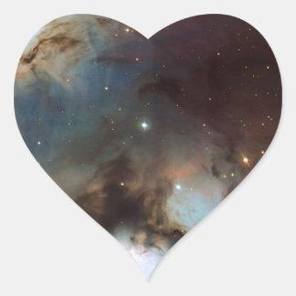 Una astronomía de espacio más sucia 78 de la nebul pegatinas de corazon