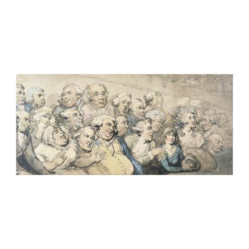 Una audiencia en el teatro del carril de Drury (pl Lona Envuelta Para Galerias