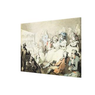 Una audiencia que mira un juego, c.1785 (la pluma  impresión en lona estirada
