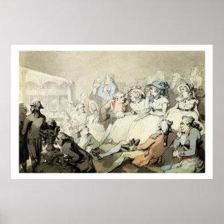 Una audiencia que mira un juego, c.1785 (la pluma  impresiones