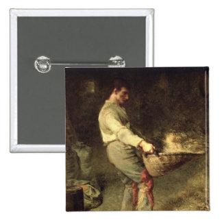 Una aventadora, 1866-68 pin cuadrado