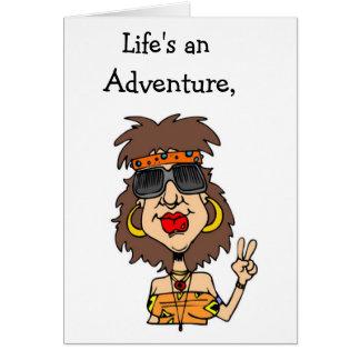 Una aventura de la vida… tarjeta pequeña