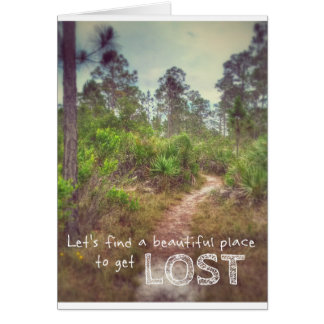 Una aventura hermosa tarjeta de felicitación