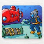 Una aventura subacuática tapetes de ratones