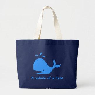 ¡Una ballena de un cuento! Bolsa Lienzo
