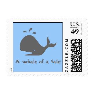 ¡Una ballena de un cuento! Sellos Postales