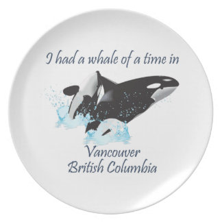 Una ballena de una época plato para fiesta