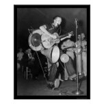 Una banda Asheville, NC 1938 del hombre Posters