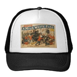 Una bandera blanca como la leche gorros