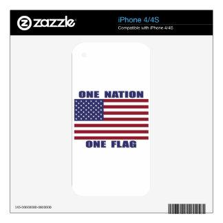 Una bandera de la nación una calcomanías para el iPhone 4S
