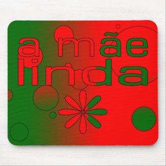 Una bandera de Mãe Linda Portugal colorea arte pop Alfombrilla De Raton