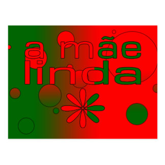 Una bandera de Mãe Linda Portugal colorea arte pop Postal