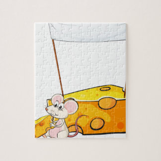 Una bandera vacía sobre el ratón con una parte del rompecabezas