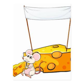 Una bandera vacía sobre el ratón con una parte del postales