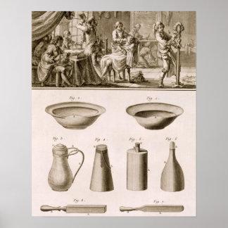 Una barbería y herramientas del peluquero, del 'En Póster