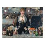 Una barra en el Folies-Bergère de Édouard Manet Postales