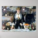 Una barra en el Folies Bergère, Édouard Manet Posters