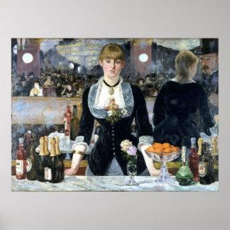 Una barra en el Folies Bergère, Édouard Manet Póster