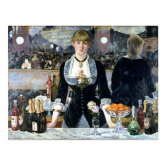 Una barra en el Folies Bergère, Édouard Manet Tarjetas Postales
