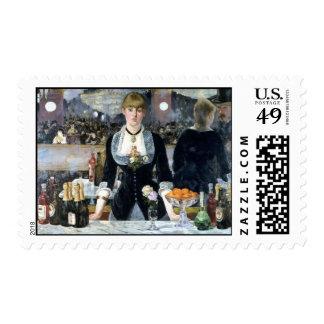 Una barra en el Folies Bergère, Édouard Manet Timbre Postal