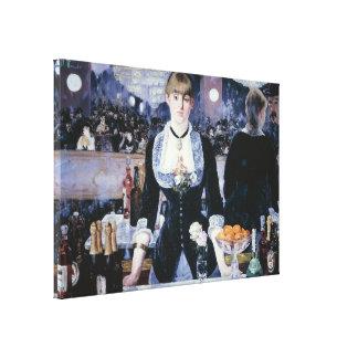 Una barra en el Folies-Bergère - el Eduardo Manet Impresión En Lienzo
