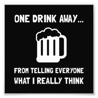 Una bebida ausente cojinete