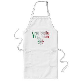 Una Bella Figlia Italy Flag Colors Long Apron