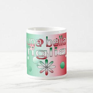Una Bella Figlia Italy Flag Colors Pop Art Coffee Mugs