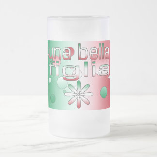 Una Bella Figlia Italy Flag Colors Pop Art Coffee Mug