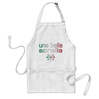 Una Bella Sorella Italy Flag Colors Adult Apron