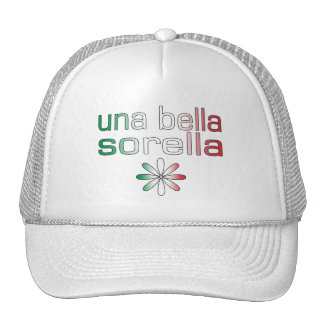 Una Bella Sorella Italy Flag Colors Hats