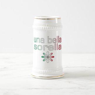 Una Bella Sorella Italy Flag Colors Mugs