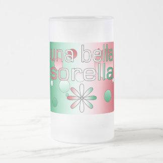 Una Bella Sorella Italy Flag Colors Pop Art Mug