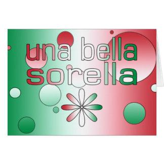 Una Bella Sorella Italy Flag Colors Pop Art Stationery Note Card