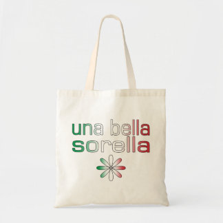 Una Bella Sorella Italy Flag Colors Tote Bags
