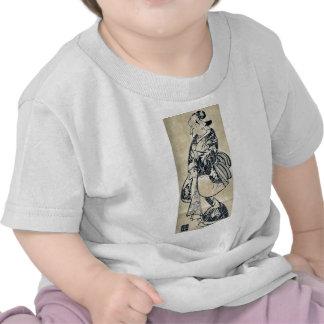 Una belleza popular por Torii, Kiyonobu Ukiyoe Camisetas
