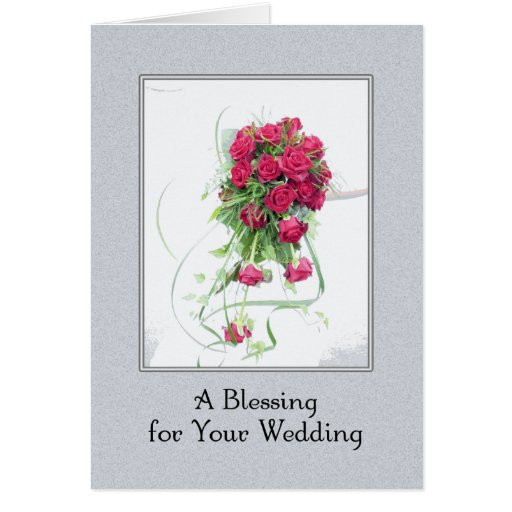 Una bendición del boda tarjetas