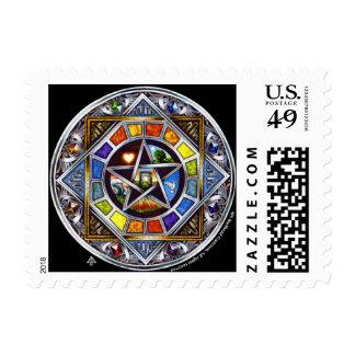 Una bendición del franqueo de los elementos sellos postales