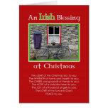 Una bendición irlandesa en el navidad tarjeton