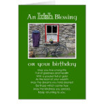 Una bendición irlandesa en su cumpleaños tarjeton