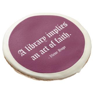 Una biblioteca implica un acto de la fe