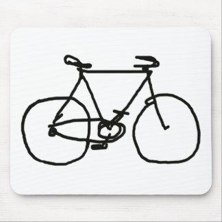 una bicicleta negra estilizada mouse pads