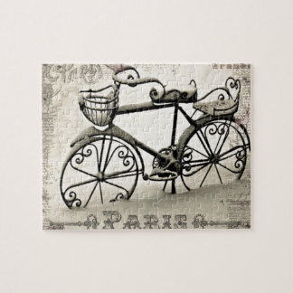 Una bicicleta parisiense rompecabezas con fotos