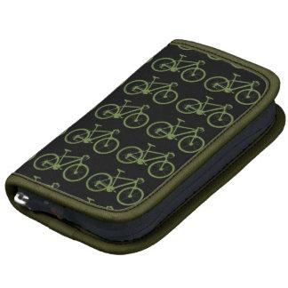 una bicicleta verde organizador