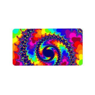 una bobina de encargo del fractal del colorfull etiqueta de dirección
