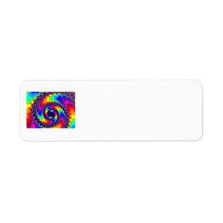 una bobina de encargo del fractal del colorfull etiqueta de remitente